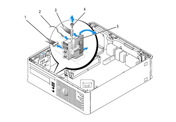 I/O Panel: Dell OptiPlex 745 User's Guide