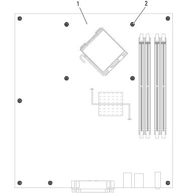 Replacing the System Board: Dell OptiPlex 745 User's Guide