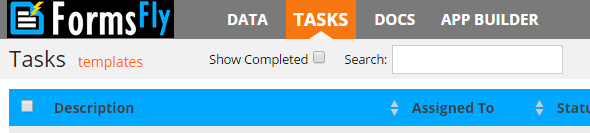 Task Screen Tab