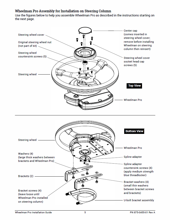 Wheelman Pro Installation Guide Fit Kit: Case IH 9150