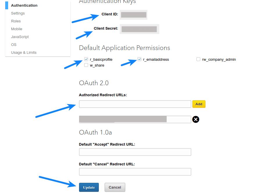 How to Enable LinkedIn Login Using LinkedIn API Key