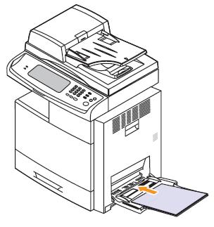 Impresora MFP láser a color de Samsung CLX-8380: Cargar el