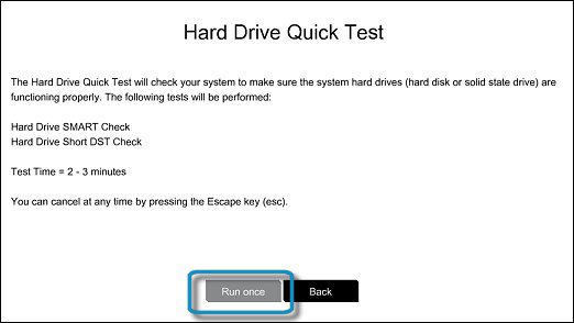 Hard Drive Quick Test - Run once
