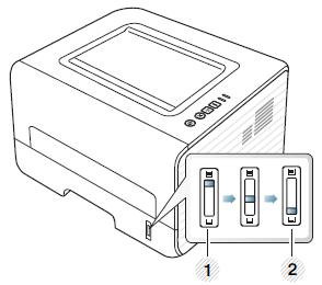 Impresoras láser Samsung ML-2950-2956: Cargar el papel
