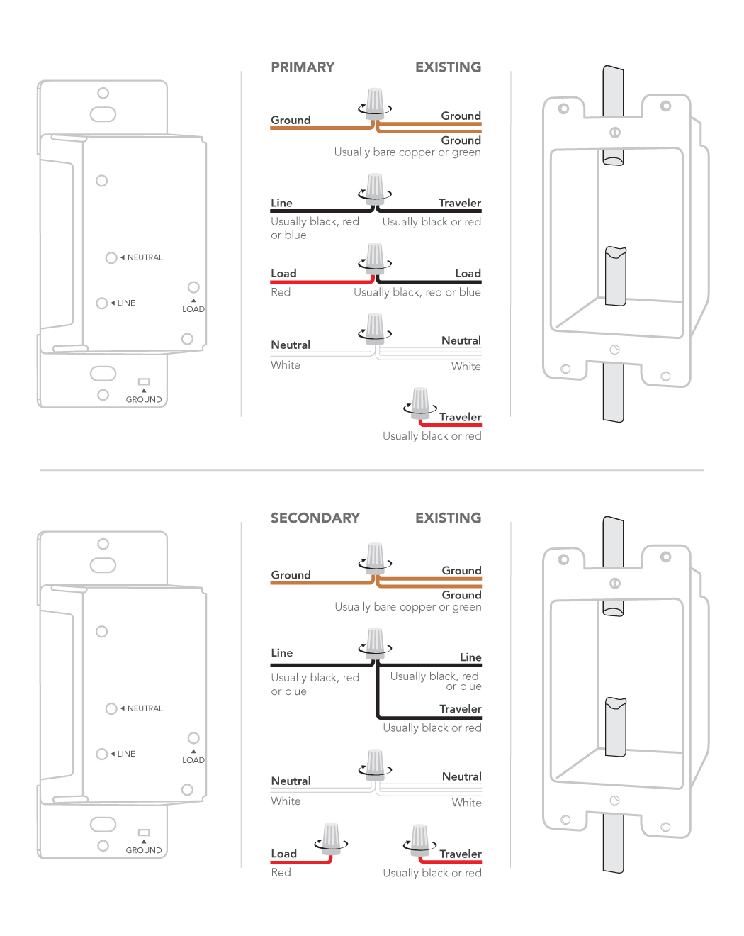 Lutron Maestro 3 Way Dimmer Wiring Diagram : lutron, maestro, dimmer, wiring, diagram, Installing, Dimmer, Switch:, 4-way, Customer, Support