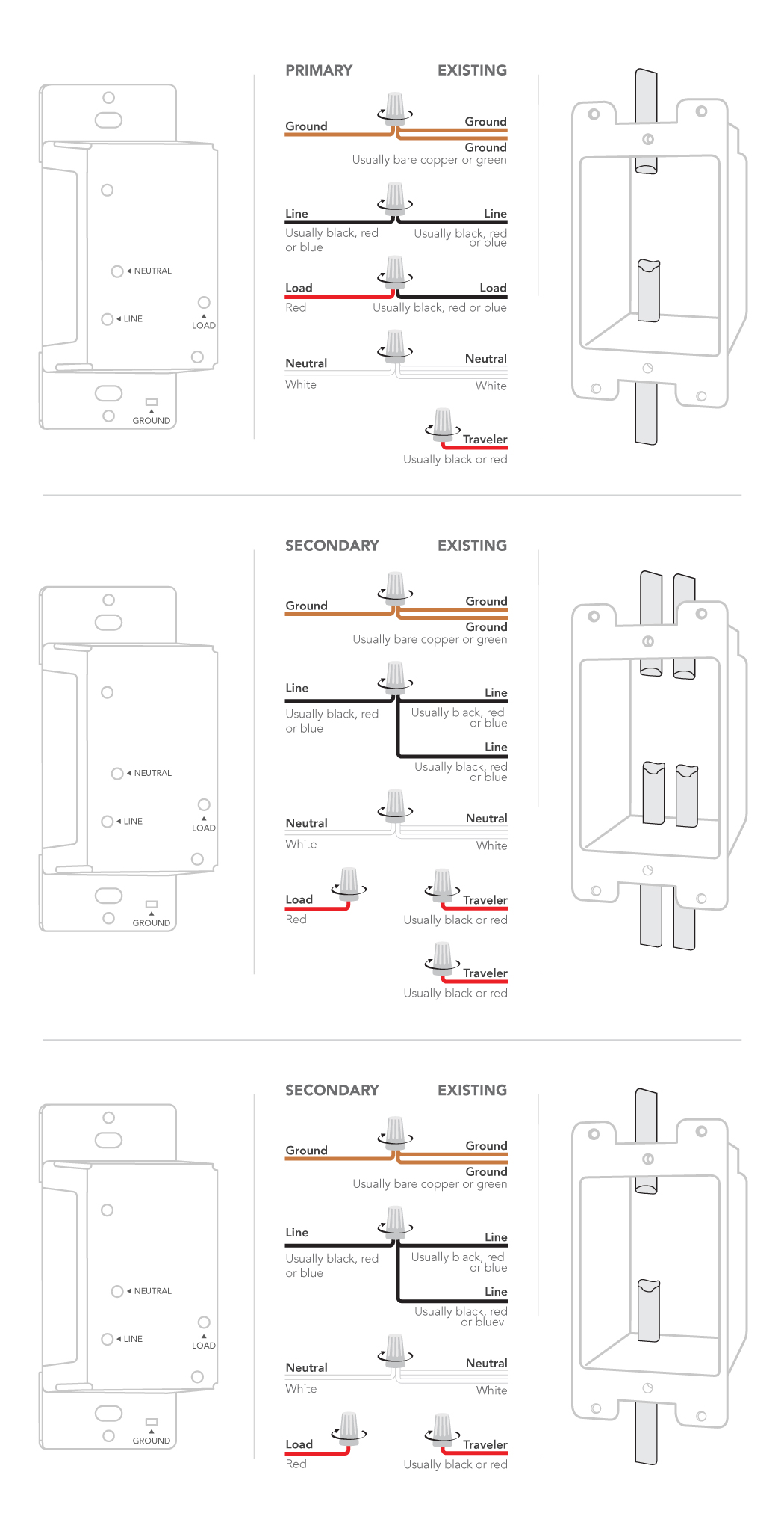 3 Way Dimmer Switch Wiring Diagram : dimmer, switch, wiring, diagram, Installing, Dimmer, Switch:, 4-way, Customer, Support