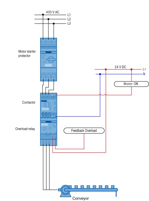 small resolution of sirius innovations load feeder as a direct starter with overload relay assembly and wiring ce fe iii 014 v10 en