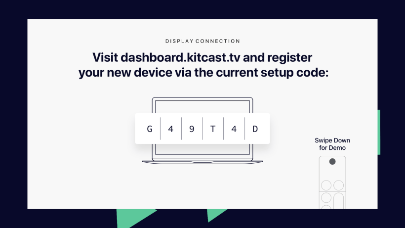 Apple TV screen will flicker and Kitcast will start, you're done - Kitcast Support