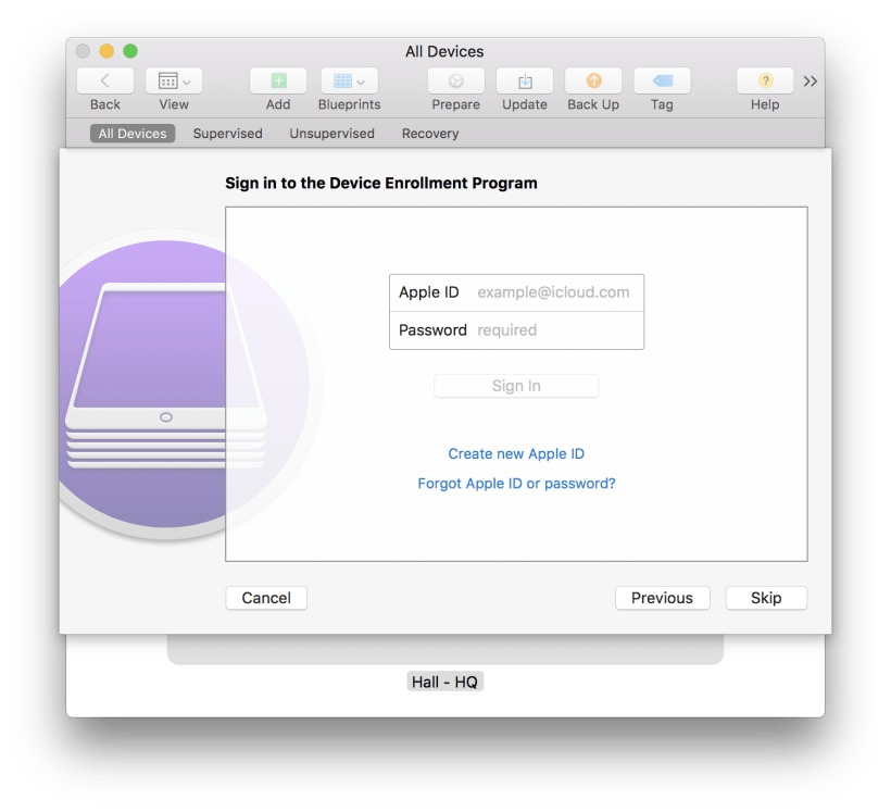 If your organization is a member of Apple Device Enrollment program - Kitcast Support