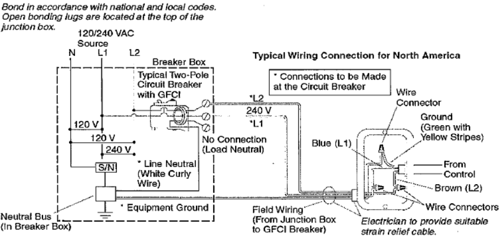 medium resolution of verify that the dedicated service to the field wiring box is a 220v two wire connection fig 2