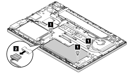 Removal and installation steps of internal battery pack