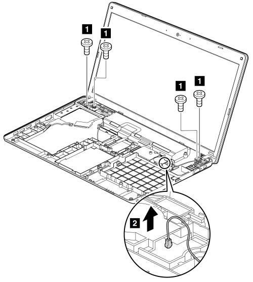 Base cover assembly and DC-in connector removal and