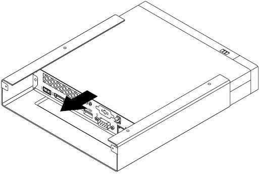 Installing or removing the VESA mount bracket