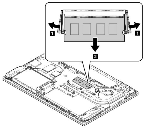 Memory module removal and installation instructions