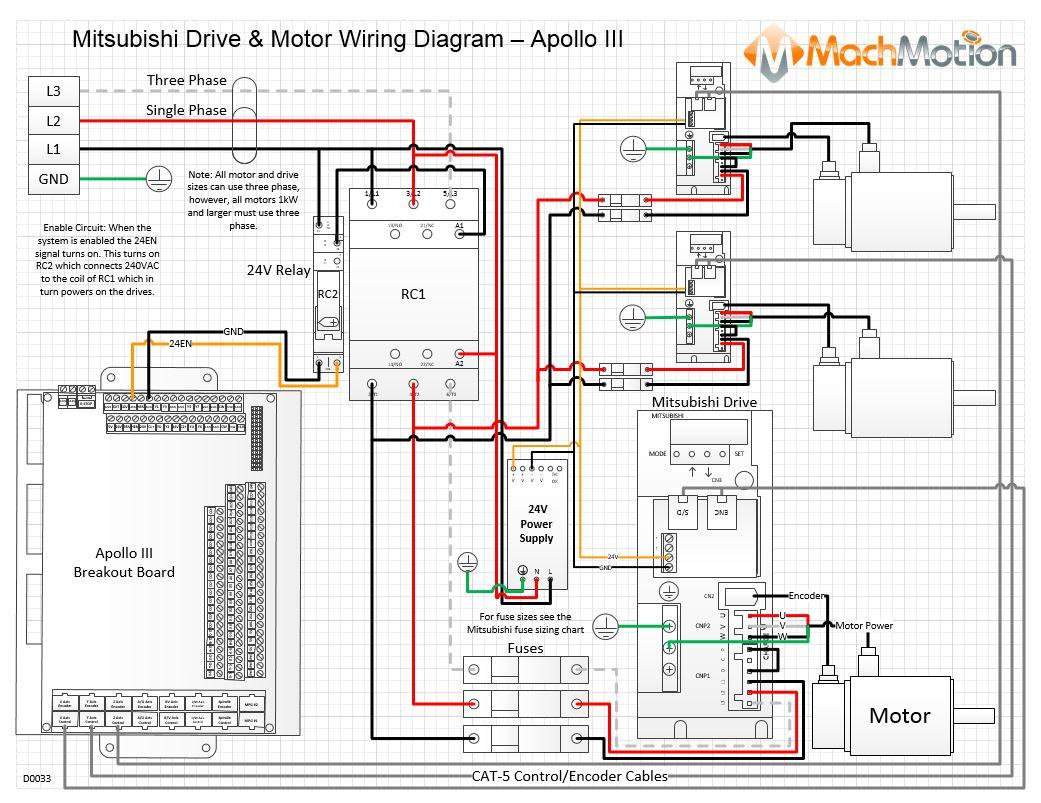 hight resolution of mitsubishi drive motor wiring diagram apollo iii