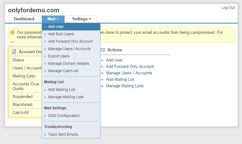 Adicionar usuário único 1