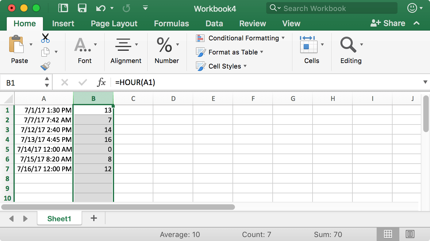 Counting Entries In An Excel Spreadsheet By Am Or Pm