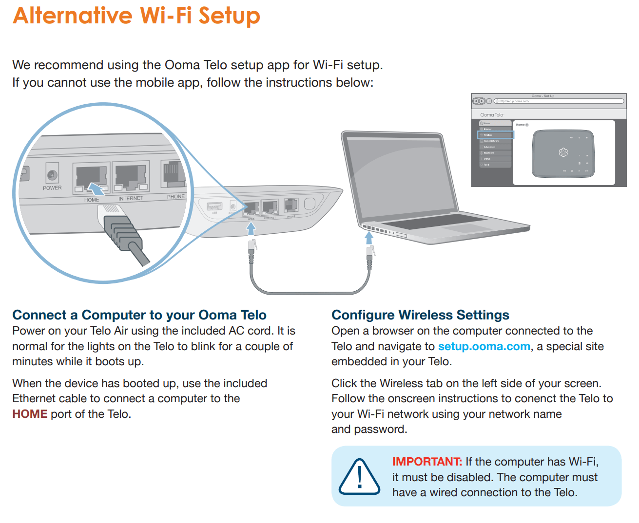 hight resolution of  connecting your telo base station wirelessly the diagram below will help you set your telo base station up using a wired ethernet connection