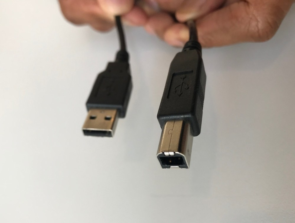 medium resolution of plug the usb b end of the cable squire ish in shape into the usb port on your keyboard if your keyboard has two usb ports usb to device and usb to
