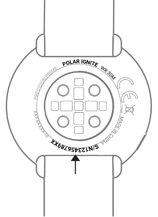 Where can I find the serial number of my Polar device