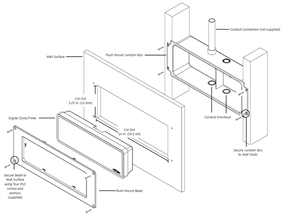 Flush mount (Digital Clock/Timer)