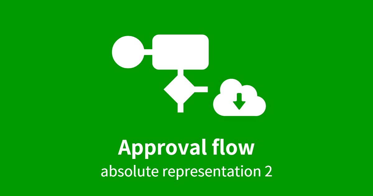 approval flow absolute representation 2 questetra support