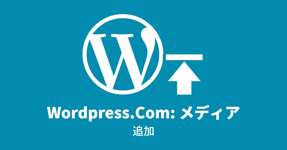 Wordpress.Com: メディア追加