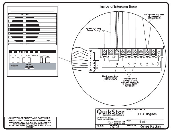 wiring diagram for commax intercom