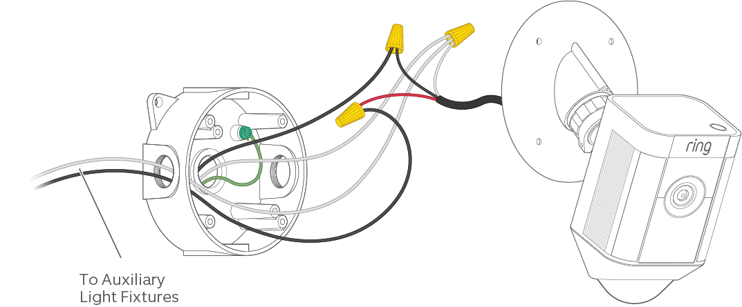 Connecting External Lights to Your Spotlight Cam Mount