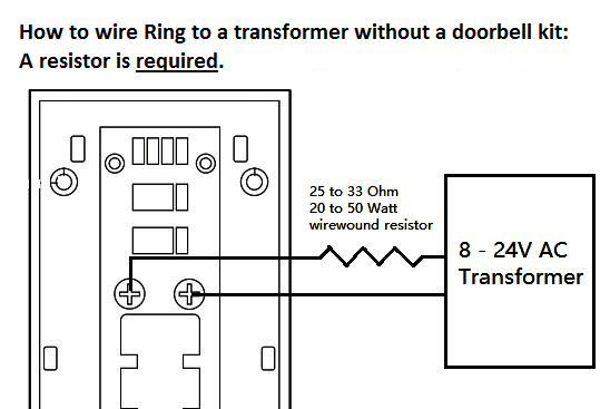 Wiring Diagram For Doorbell Transformer