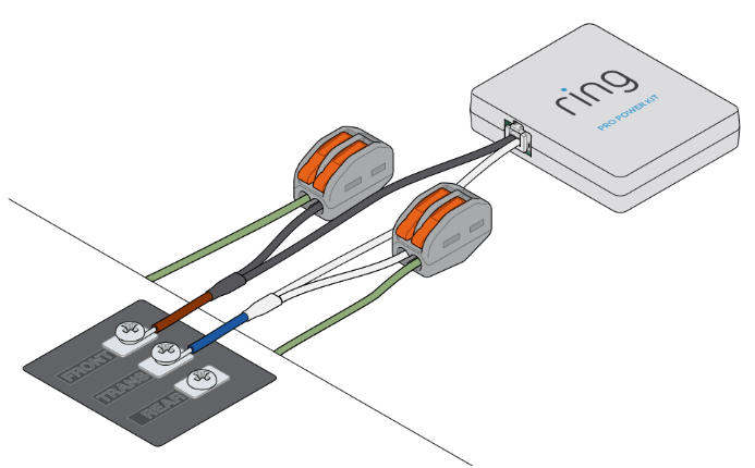 ring doorbell wiring diagram bosch 12v relay 30a and installing the pro power kit with your existing help