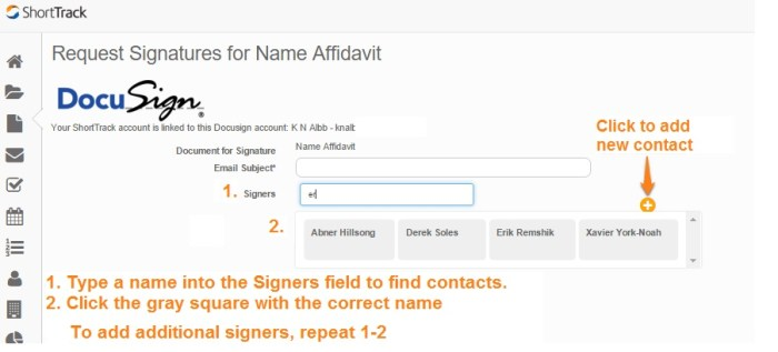 Docusign add signers