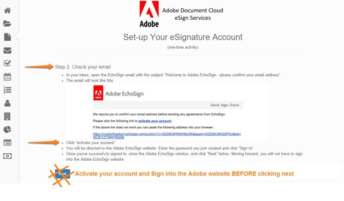 adobe set up signature