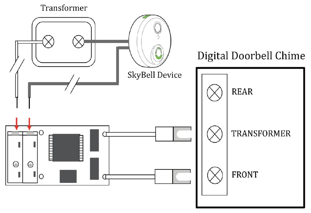 Wiring Diagram – SkyBell with Digital Chime