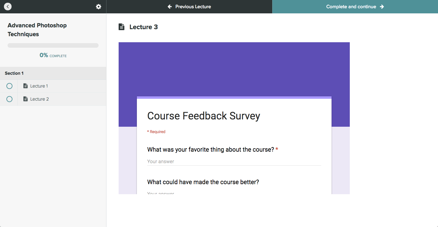 Preview Google Form In Lecture
