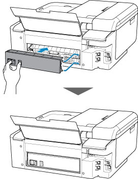 Canon : PIXMA Manuals : TR8500 series : Removing Jammed