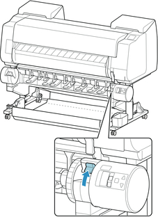 Canon:imagePROGRAF Manuals:PRO-4000:Loading the Lower Roll