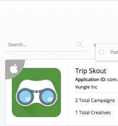 search for the app you want to edit by name or filter your apps by platform to narrow your search  [ 1348 x 768 Pixel ]