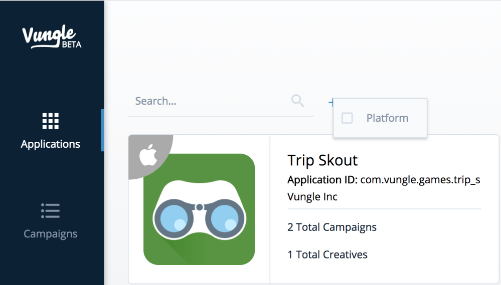 medium resolution of search for the app you want to edit by name or filter your apps by platform to narrow your search