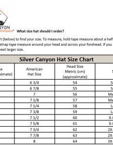 Schatsizechartg also silver canyon hat fit and size chart  western outlets rh support westernoutlets