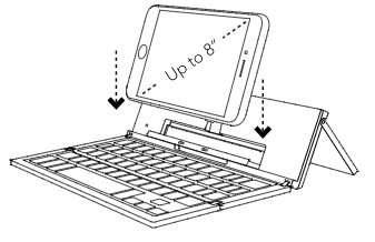 Inserting your device- Pocket Keyboard