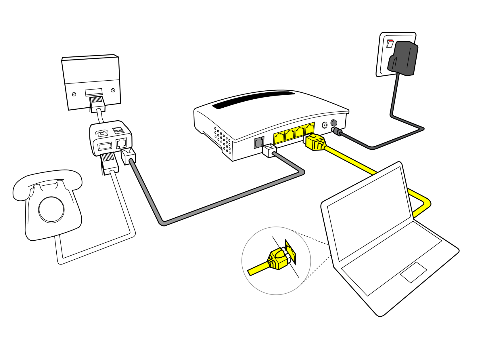 telephone socket wiring diagram uk danfoss mid position valve broadband getting connected technicolor wired setup