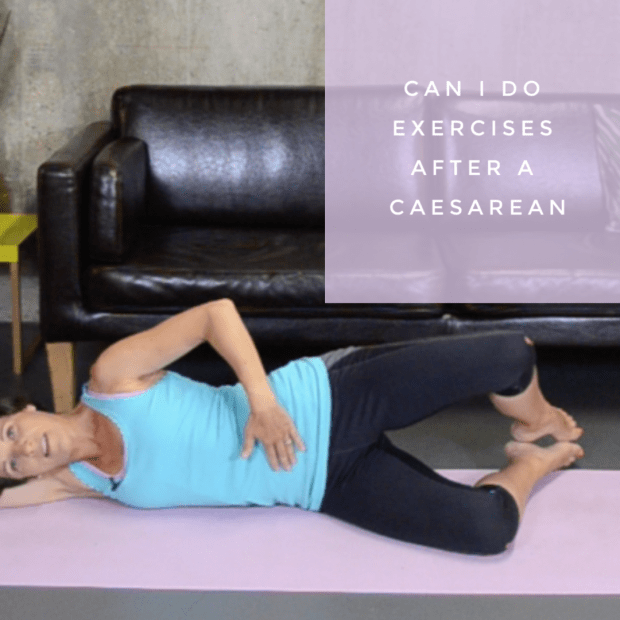 lady doing exercises after a caesarean