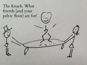 the knack: what your friends and your pelvic floor are for