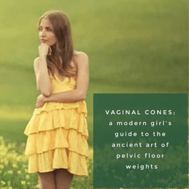 woman thinking about vaginal weights