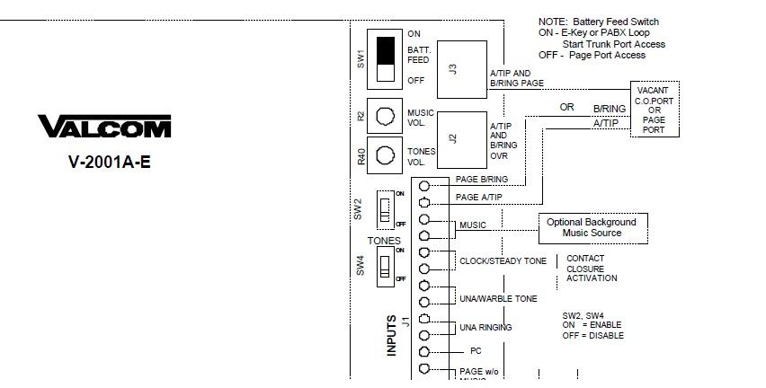valcom paging system wiring diagram