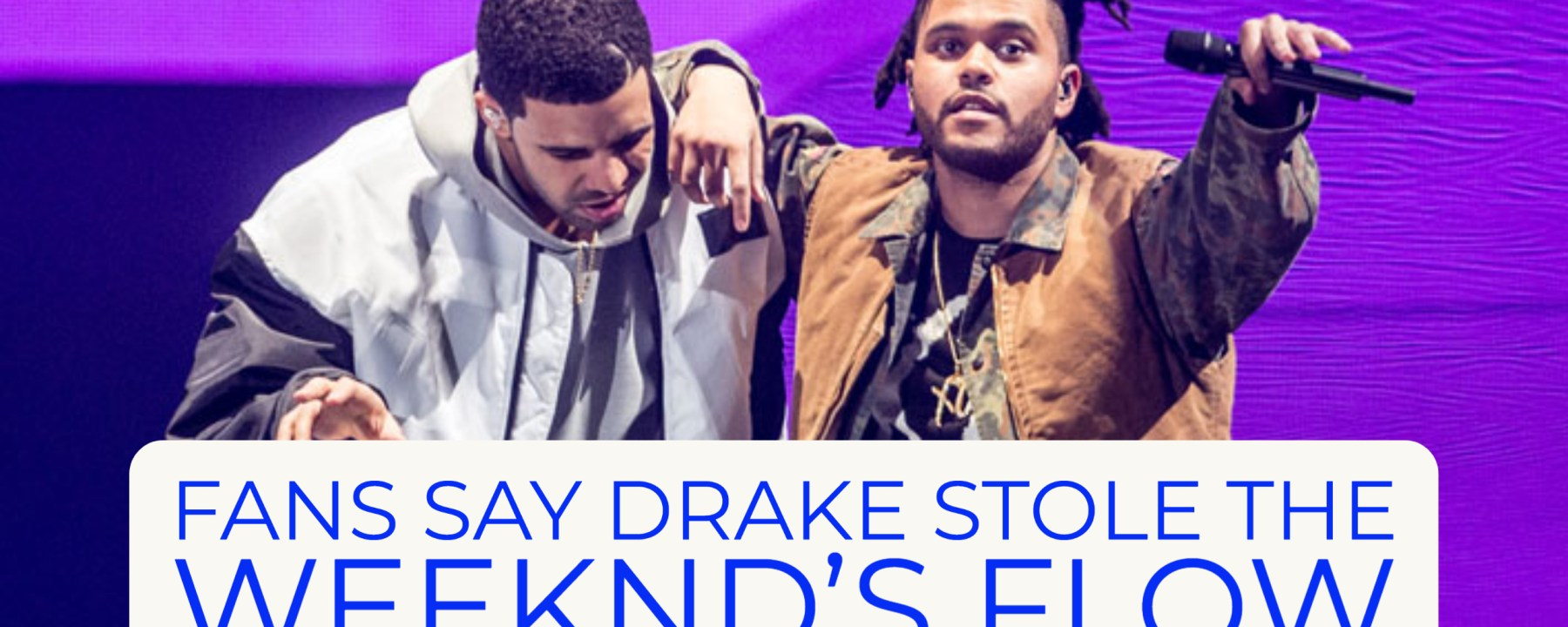 Fans Say Drake Stole The Weekend's Flow