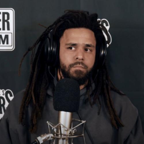 J. Cole spittin on the radio mic