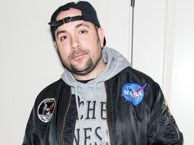 Peter Rosenberg wearing NASA bomber jacker