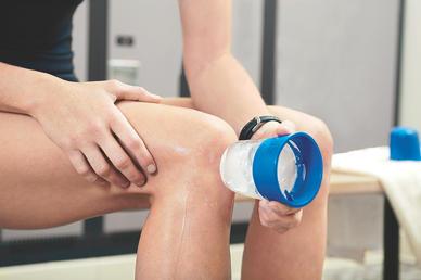 Icing knee